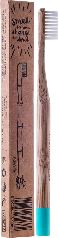 Зубная щетка бамбуковая, мягкая, голубая - Mohani Toothbrush