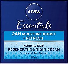 Parfumuri și produse cosmetice Cremă de noapte pentru ten normal - Nivea Essentials 24H Moisture Boost + Refresh Cream