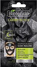 Parfumuri și produse cosmetice Mască de curățare cu cărbune pentru ten mixt - Bielenda Carbo Detox Cleansing Mask Mixed and Oily Skin