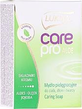 """Parfumuri și produse cosmetice Săpun """"Aloe și Jojoba"""" - Luksja Care Pro Aloe & Jojoba Cream Soap"""
