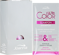 Parfumuri și produse cosmetice Șampon pentru părul blond sau gri - Joanna Ultra Color System Shampoo (Tester)