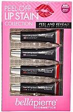 Parfumuri și produse cosmetice Set - Bellapierre Peel-Off Lip Stain Collection (lip/tint/4x15ml)