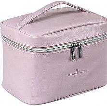 """Parfumuri și produse cosmetice Trusă cosmetică """"Leather"""", 24x14x13.5 cm, 96990, violet - Top Choice"""