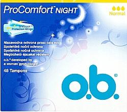 Parfumuri și produse cosmetice Tampoane, 48 buc. - O.b. ProComfort Night Normal