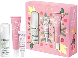 Parfumuri și produse cosmetice Set - Caudalie Vinosource Les Indispensables Hydratation (clean/mousse/50ml +serum/10ml + cream/sorbet/40ml)