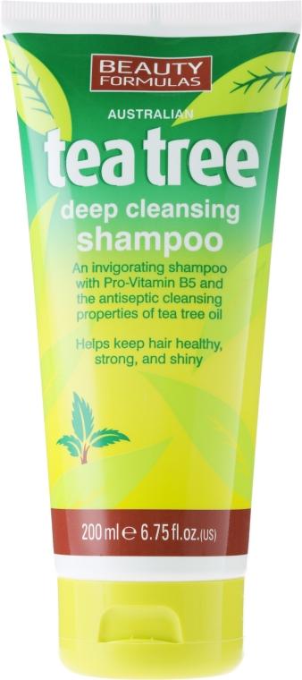 "Șampon de păr ""Arbore de ceai"" - Beauty Formulas Tea Tree Deep Cleansing Shampoo"