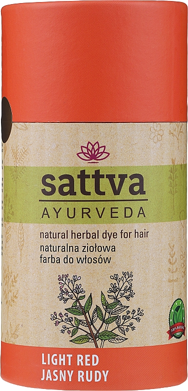 Vopsea de păr (henna) - Sattva Ayuvrveda (Czarna) — Imagine N3