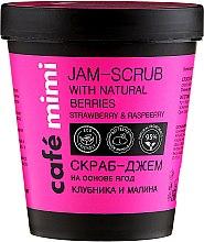 """Parfumuri și produse cosmetice Scrub de corp """"Căpșuni și zmeură"""" - Cafe Mimi Jam-Scrub With Natural Berries"""
