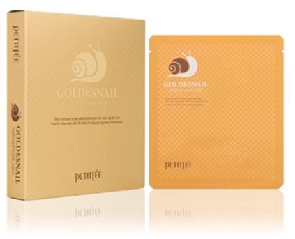 Mască de față cu mucus de melc - Petitfee & Koelf Gold & Snail Hydrogel Mask Pack