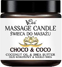 Parfumuri și produse cosmetice Lumânare pentru masaj cu ulei de cocos și unt de shea - VCee Massage Candle Choco & Coco Coconut Oil & Shea Butter