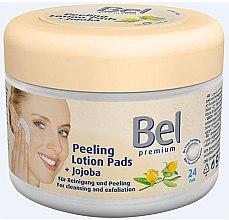 Parfumuri și produse cosmetice Discuri umede din bumbac pentru îndepărtarea machiajului - Bel Premium Peeling Lotion Jojoba Pads