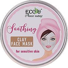 """Parfumuri și produse cosmetice Mască de față """"Calmantă"""" - Eco U Soothing Clay Face Mask For Sensative Skin"""