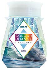 "Parfumuri și produse cosmetice Odorizant gel cu cristale ""Freshness of the ocean"" - Airpure Colour Change Crystals Ocean Fresh"