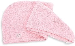Parfumuri și produse cosmetice Prosop turban pentru uscarea părului, roz pudrat - MakeUp