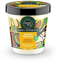 "Parfumuri și produse cosmetice Cremă regenerantă pentru corp ""Banana Milk Shake"" - Organic Shop Body Desserts Banana Milk Shake"