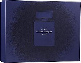 Parfumuri și produse cosmetice Narciso Rodriguez for Him Bleu Noir - Set (edp 100 ml + edp 10 ml + sh/gel 75 ml)