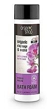 """Parfumuri și produse cosmetice Spumă de baie """"Relaxare: Orhideea purpurie"""" - Organic Shop Organic Clay Sage and Orchid"""