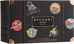 Parfumuri și produse cosmetice Bvlgari Man In Black - Set (edp/100ml + ash/balm/100ml + bag)