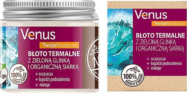 Термальная грязь с зеленой глиной и органической серой - Venus Nature Your Recipe Thermal Mud With Green Clay And Organic Sulfur — фото N1