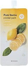 Parfumuri și produse cosmetice Mască de noapte cu extract de lămâie - Missha Pure Source Pocket Pack Lemon