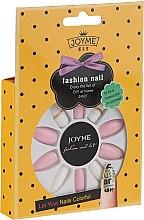 Parfumuri și produse cosmetice Set unghii false, alb cu roz - Donegal Express Your Beauty