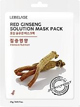 Parfumuri și produse cosmetice Mască din țesătură pentru față - Lebelage Red Ginseng Solution Mask