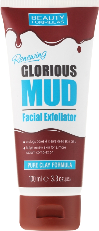 Mască de față cu argilă albă - Beauty Formulas Renewing Glorious Mud Facial Exfoliator — Imagine N1