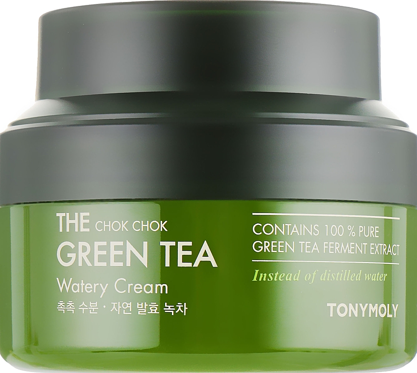 Крем на основе экстракта зелёного чая - Tony Moly The Chok Chok Green Tea Watery Cream — фото N1