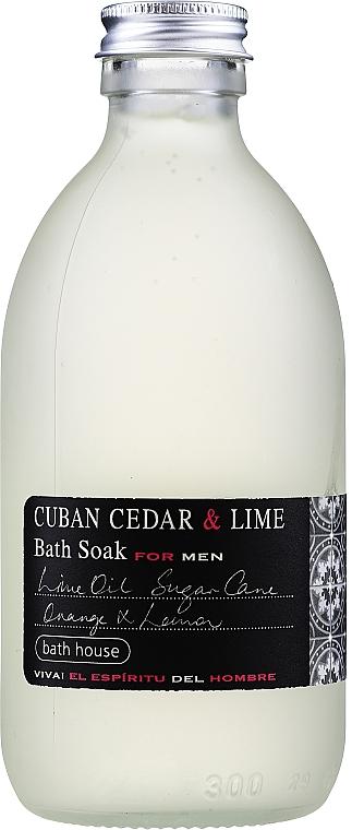 Bath House Cuban Cedar & Lime - Пена для ванны — фото N1