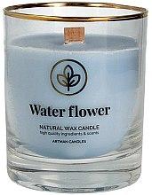 Parfumuri și produse cosmetice Lumânare aromată, 8x9.5 cm - Artman Organic Water Flower