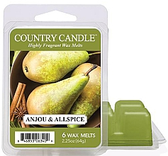 Parfumuri și produse cosmetice Ceară pentru lampă aromatică - Country Candle Anjou & Allspice Wax Melts