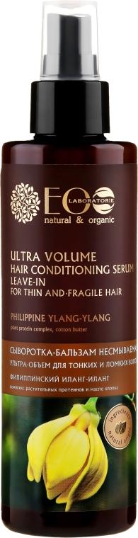 Сыворотка-бальзам для волос ультра-объем для тонких и ломких - ECO Laboratorie — фото N1