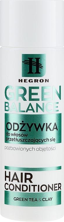 Balsam pentru păr gras - Hegron Green Balance Hair Conditioner — Imagine N1