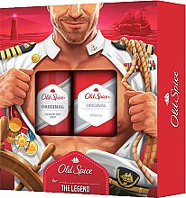 Parfumuri și produse cosmetice Set - Old Spice Original Captain (deo/sprey/150ml+sh/gel/250ml)
