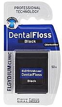 Духи, Парфюмерия, косметика Зубная нить, черная, 50м - Elgydium Clinic Dental Floss