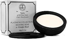 Parfumuri și produse cosmetice Săpun de ras, în suport de lemn - Taylor Of Old Bond Street Platinum Collection Shaving Soap