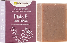 """Parfumuri și produse cosmetice Săpun bio """"Mirtle și struguri roșii"""" - La Saponaria Bio Sapone"""