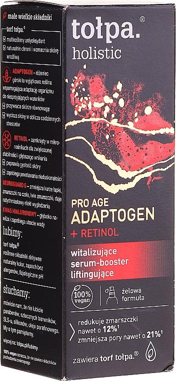 Ser revitalizant cu efect de lifting pentru față - Tolpa Holistic Pro Age Adaptogen + Retinol