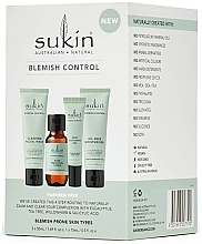 Parfumuri și produse cosmetice Set - Sukin Blemish Control Kit (face/gel/50ml+toner/50ml+gel/15ml+cr/50ml) (125 ml)