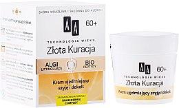 Parfumuri și produse cosmetice Cremă pentru gât și decolteu 60+ - AA Cosmetics Age Technology Golden Revival Cream