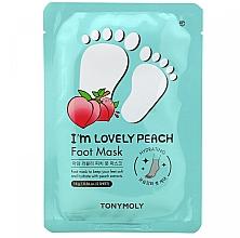 Parfumuri și produse cosmetice Mască pentru picioare - Tony Moly I'm Lovely Peach Foot Mask