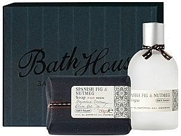 Parfumuri și produse cosmetice Bath House Spanish Fig and Nutmeg - Set (edc/100ml + soap/150g)