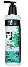 """Parfumuri și produse cosmetice Ulei de duș """"Plante de mentă"""" - Organic shop Body Foam Oil Organic Mint and 7 Herbs"""