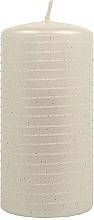 Parfumuri și produse cosmetice Lumânare decorativă, sidef alb, 7x14 cm - Artman Andalo Metalic Candle