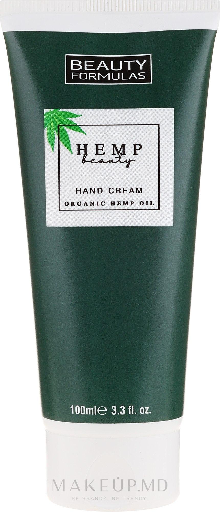 Крем для рук с конопляным маслом - Beauty Formulas Hemp Beauty Oil Hand Cream — фото 100 ml