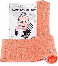 """Parfumuri și produse cosmetice Set de prosoape de față, pentru călătorii, piersic """"MakeTravel"""" - Makeup Face Towel Set"""