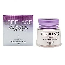 Parfumuri și produse cosmetice Cremă nutritivă cu colagen și ceai verde - Lebelage Collagen+Green Tea Moisture Cream