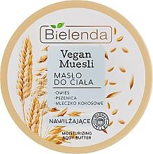 """Духи, Парфюмерия, косметика Масло для тела увлажняющее """"Овес, пшеница, кокосовое молоко"""" - Bielenda Vegan Muesli Moisturizing Body Butter"""