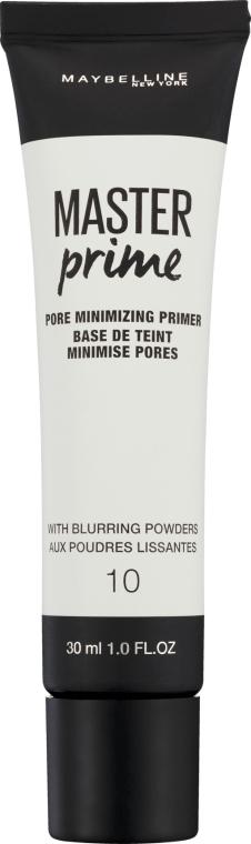 Primer corector pentru machiaj - Maybelline Master Prime 10 Pore Minimizing