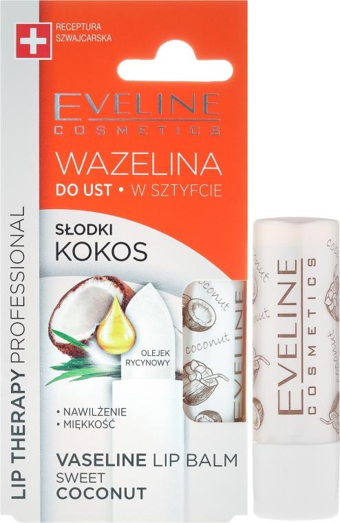 Balsam de buze - Eveline Cosmetics Vaseline Lip Balm Sweet Coconut
